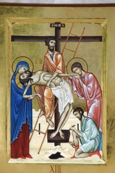 Lo Scriptorium - Laboratorio Iconografico Holy Week, Orthodox Icons, Crucifix, Virgin Mary, Byzantine, My King, Priest, Savior, Madonna