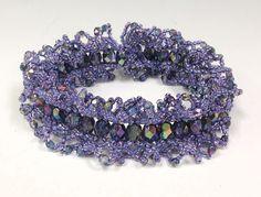 Video:  Ogalala Lace Bracelet from Jill Wiseman.   #Seed #Bead #Tutorials