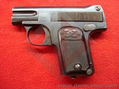Chas. Clement  M1908 6.35mm Belgium. Larger grip than the 07 model