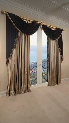 Beautiful, Elegant Formal Living Room Drapery made by Tracy Arnold at Marc Pridmore Designs.  Transform your windows in your home and schedule your appointment for complimentary drapery / home theater designs today!