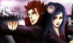 Konan and Yahiko Couple♥♥♥ #Akatsuki #TeamJiraiya #Pain #Love #FanArt
