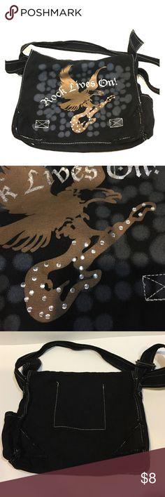 Rock lives on messenger bag for sale! Rock lives on messenger bag for sale! Bags Shoulder Bags