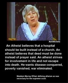 Atheists do; religious people hope the job is done by something they can't even prove exists. As if.... By magic, perhaps?