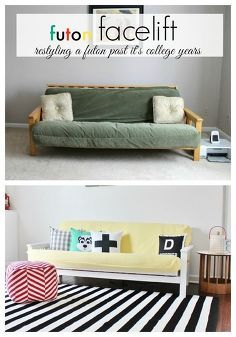 a futon facelift, painted furniture, repurposing upcycling