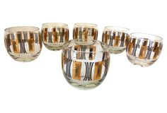 1960s Lowball Glasses, S/6