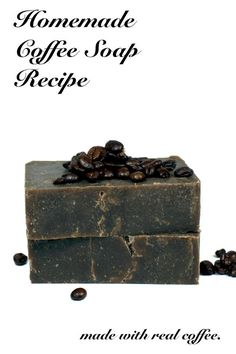 Coffee Soap Recipe! This natural homemade coffee soap recipe is made using real brewed coffee and the cold process soapmaking method and is easy enough for beginners. The caffeine in this homemade coffee soap recipe acts as a natural anti-inflammatory and is believed to help with skin redness and other skin ailments.