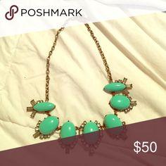 J crew statement necklace Barely worn j crew statement necklace in turquoise J. Crew Jewelry Necklaces