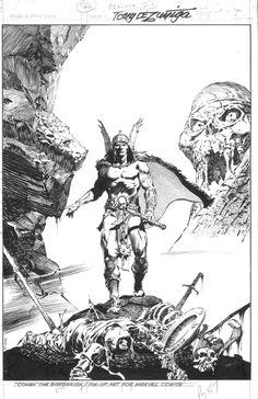 Savage Sword of Conan #59 page 57 pin-up by Tony DeZuniga Comic Art