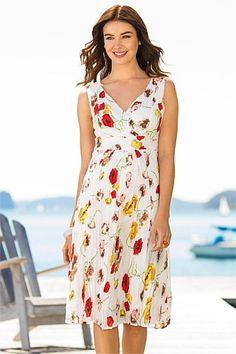 Dresses - Capture Floral Print Crinkle Dress - EziBuy New Zealand