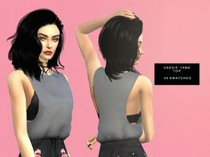Serenity-cc's Dreamer Collection top. I like this because it looks Kylie Jenner inspired and that seems to be the only thing my sims ever look like ever since I discovered CC and mods. lol