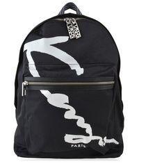 Kenzo Signature Backpack (560 BRL) ❤ liked on Polyvore featuring bags, backpacks, black, daypack bag, rucksack bags, nylon backpacks, oversized backpacks and kenzo bag