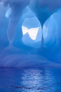 Windblown Shapes of Iceberg