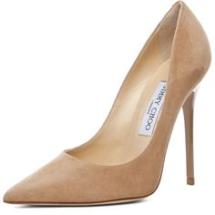 Jimmy Choo Anouk Suede Pumps ($575) ❤ liked on Polyvore featuring shoes, pumps, heels, sapatos, jimmy choo, suede shoes, high heel shoes, leather sole shoes and high heel court shoes