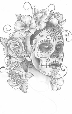 Graffiti Sugar Skull Girl Drawing | Gianna Michaels Sugar skull by trippkayaris
