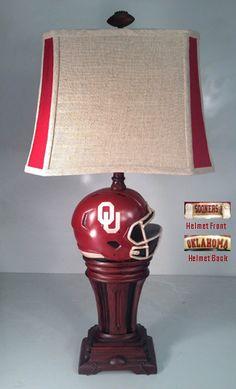 NCAA TABLE LAMP OKLAHOMA SOONERS
