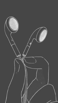 dan howell // music, earbuds, black & white