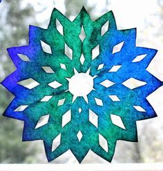 The Stir-Easy Snow-Day Craft for Kids: Coffee Filter Snowflakes