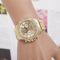 5.11$  Watch here - http://alixt2.shopchina.info/go.php?t=32634922487 - Luxury Brand Silver Gold Watches Women Rhinestone Dress Watches For Women Stainless Steel Quartz Wristwatches reloj mujer AC023 5.11$ #buyonlinewebsite