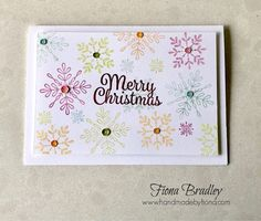 Merry Christmas - Snowflake Sentiment - Stampin' Up! - Fiona Bradley