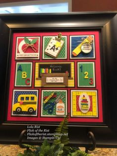 Stampin' Up! Collage Frames, Box Frames, Collages, 3d Printed Jewelry, Picture On Wood, Picture Frames, Pocket Letters, Punch Art, Scrapbook Pages
