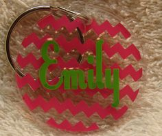 A personal favorite from my Etsy shop https://www.etsy.com/listing/162080979/round-personalized-chevron-key-chain