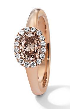 Rosendorff Honey Collection Cognac and Diamond Ring
