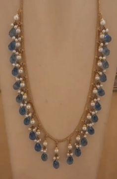 Indian Jewelry Earrings, Jewelry Design Earrings, India Jewelry, Gems Jewelry, Necklace Designs, Gemstone Jewelry, Beaded Jewelry, Jewelery, Beaded Necklace