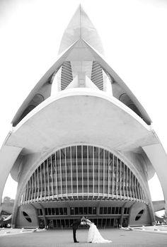 Ciudad de las artes y de las ciencias en Valencia