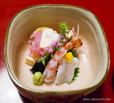 One of many courses in a 3-star Michelin kaiseki meal in Kyoto