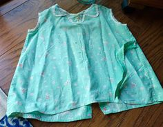 A recent vintage attic find! Here is a darling all original 1930s vintage farmhouse little toddler girls dress that was handmade on the farm out of vintage 30s feed sacks. So very precious!!! One of a kind vintage feedsack dress! This is a well loved and worn vintage little dress that is in a softened mint green feedsack with a darling horse and rider in the print. It is so adorable!! The condition is a vintage worn & tattered, with some holes and tears ~~ lovely feedsack dress! See all t...