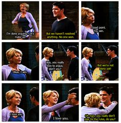 """""""done arguing"""" ~ Dharma & Greg ~  Quotes ~ Season 1, Episode 2: And the in-laws meet"""