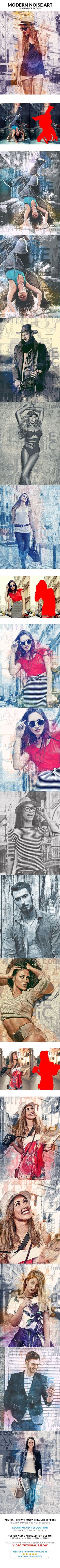 Modern Noise Art Photoshop Action - Photo Effects Actions abstract, action, art, artistic, atchitecture, design, draw, drawing, effect, exterior, hand drawn, interior, pen, pencil, photography, photoshop, professional, sketch, style, template, watercolor