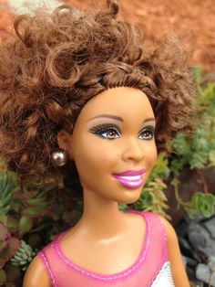 Doll With Natural Hair Style - African American - French Braid w/ Curls on Etsy, $39.99