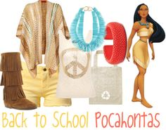 """Back to School: Pocahontas"" by jami1990 ❤ liked on Polyvore"