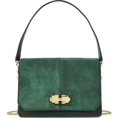 Carven Joy Full Bag (€505) ❤ liked on Polyvore featuring bags, handbags, green, green bag, green purse, carven bag, carven handbags and green handbags