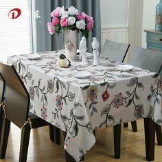European Pastoral Tablecloth/ Floral Table Cloth 100% Egyptian Cotton Table Cover Wedding Home Decor Custom Made Toalha de Mesa-in Tablecloths from Home & Garden on Aliexpress.com   Alibaba Group