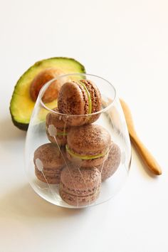 Chocolate & Avocado Macarons #holidayavocado @Amazing Avocado