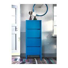 NORDLI Ladekast met 4 lades, blauw - 48x125 cm - IKEA