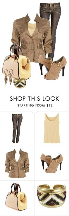 """""""Untitled #332"""" by cw21013 ❤ liked on Polyvore featuring Uniqlo, Forever 21, Gabriella Rocha, Fendi, Vaubel and Ten Thousand Things"""