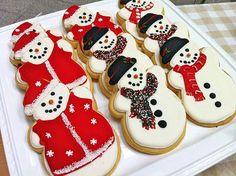 christmas cookies snowman shape <3
