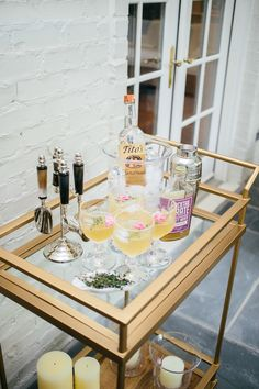 Styling Your Bar Cart for Summer Cocktails | Fashionable Hostess