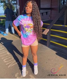 Do you like long curly hair? I think you must try the long curly hair. Boujee Outfits, Cute Teen Outfits, Teenage Girl Outfits, Girls Summer Outfits, Dope Outfits, Teen Fashion Outfits, Outfits For Teens, Trendy Outfits, Ropa Interior Calvin