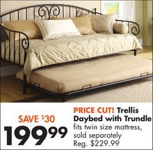 Trellis Daybed with Trundle from Big Lots $199.99 (13% Off) -  bought 1.18.14