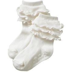 Old Navy Ruffled Socks for Baby ($3.50) ❤ liked on Polyvore featuring socks, accessories, socks and tights and fillers