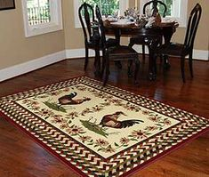 Rooster And Chicken Themed Kitchens   Country Themed Rooster Rugs   Simple Home Ideas