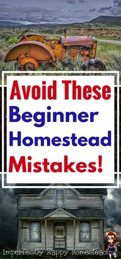 Homesteading Mistakes! The Top Beginner Homesteading Mistakes that You Can Avoid Making.
