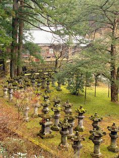 Stone Lanterns in Taiyuin-byo Shrine by robertpaulyoung on Flickr.