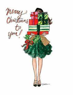 Christmas Wallpaper Illustration Xmas Ideas For 2019 Christmas Images, Christmas Art, Winter Christmas, Vintage Christmas, Christmas Decorations, Christmas Fashion, Christmas Cards Drawing, Merry Christmas Card, Merry Christmas Wallpaper