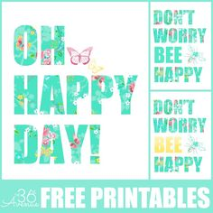 Free Printables - More colors at the36thavenue.com ...Pin it NOW and print them later!