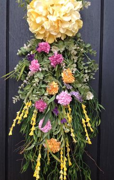 Spring Wreath Summer Wreath Teardrop by AnExtraordinaryGift
